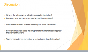 Vibe's questions on simulation-based learning