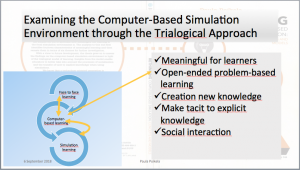 The approach to study meaningful learning based on simulations